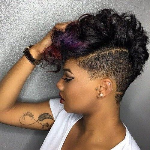 40 Mohawk Hairstyles For Black Omen In Mohawk Short Hairstyles For Black Women (View 3 of 20)