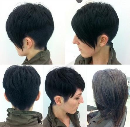 40 Pretty Short Haircuts For Women: Short Hair Styles With Short Haircuts With Long Side Bangs (View 10 of 20)