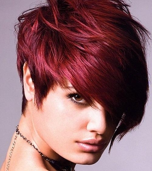 49 Funky Color Idea For Super Short Hairstyles – Cool & Trendy For Red Short Hairstyles (View 3 of 20)