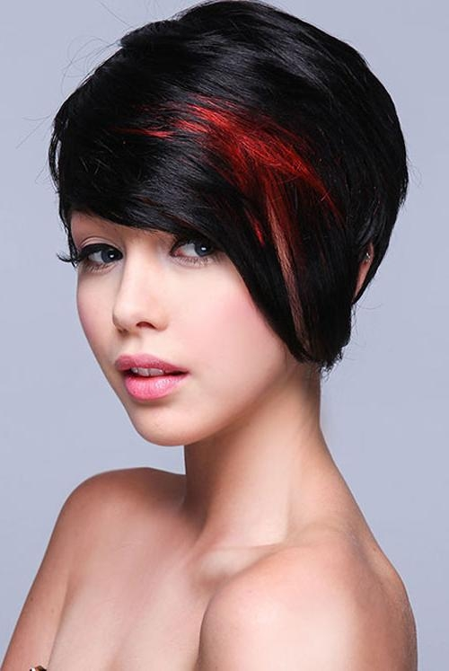 49 Funky Color Idea For Super Short Hairstyles – Cool & Trendy Within Red And Black Short Hairstyles (View 7 of 20)