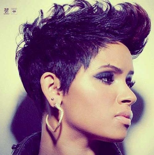 5 Cute Short Haircuts For Long Faces Colored African American With Regard To Purple And Black Short Hairstyles (View 6 of 20)