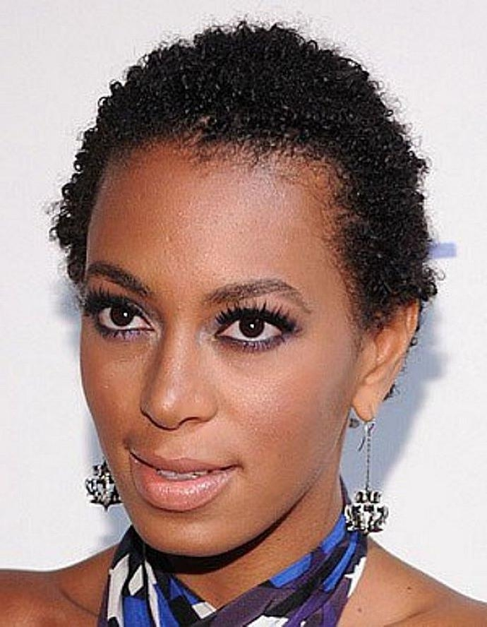 Photo Gallery Of Short Haircuts For Naturally Curly Black Hair