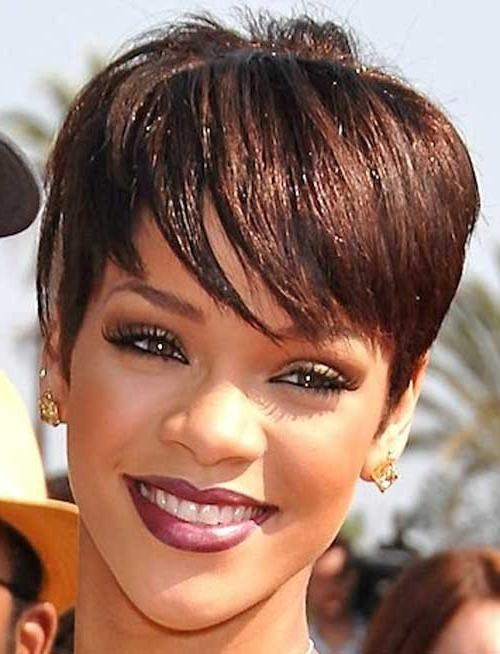 50 African American Short Black Hairstyles / Haircuts For Women Inside Short Haircuts For Black Women With Long Faces (View 3 of 20)
