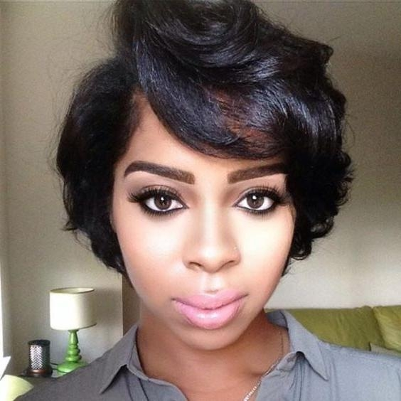 50 African American Short Black Hairstyles / Haircuts For Women Inside Short Haircuts For Black Women With Thick Hair (View 2 of 20)