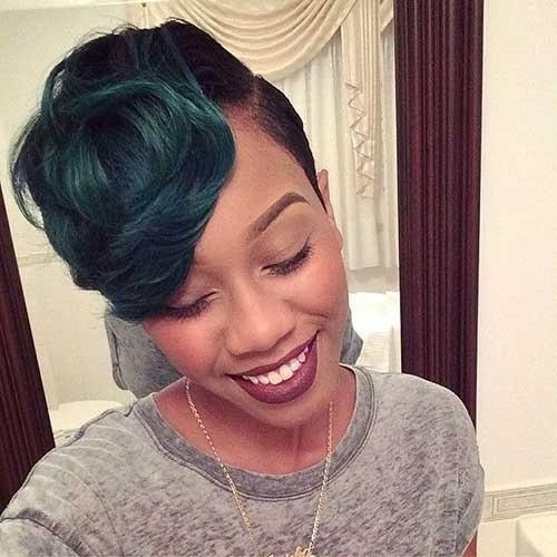 50 African American Short Black Hairstyles / Haircuts For Women Inside Short Hairstyles With Color For Black Women (View 13 of 20)