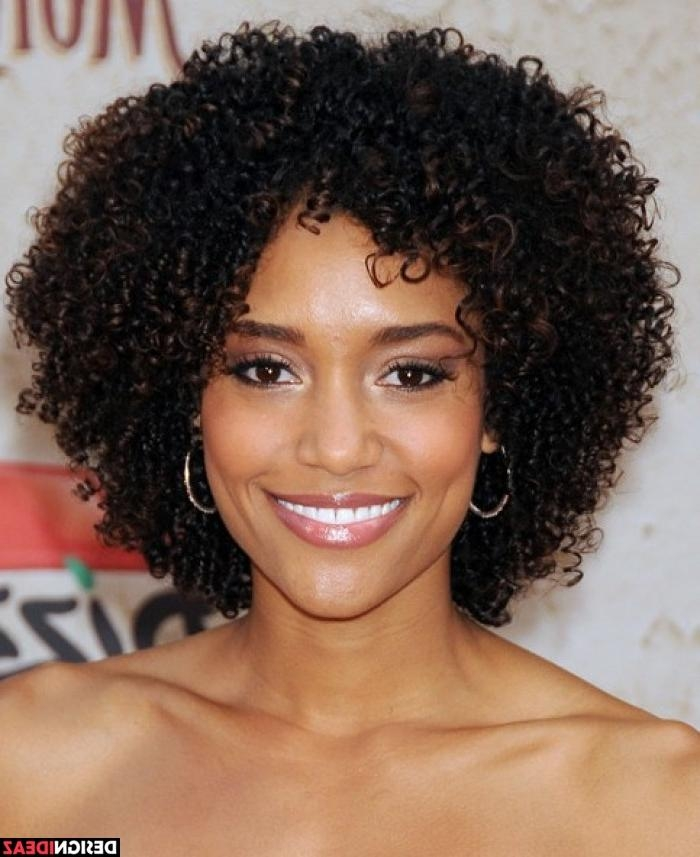 Photo Gallery Of Short Hairstyles For Round Faces African American