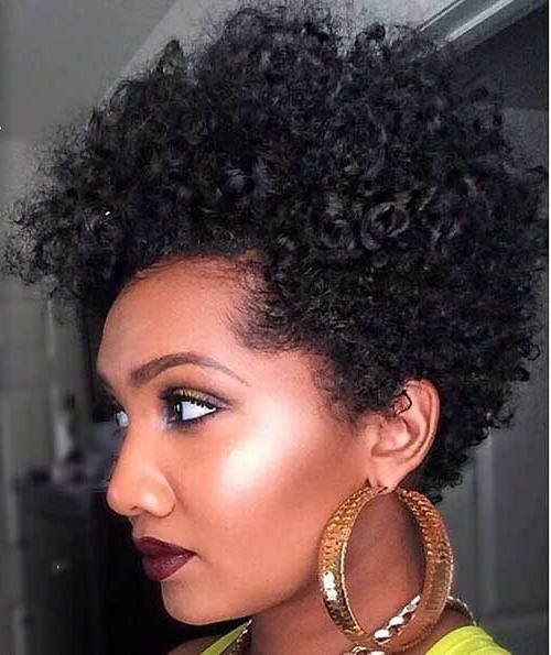 50 Best Short Curly Hairstyles For Black Women 2018 – Cruckers Pertaining To Short Haircuts For Naturally Curly Black Hair (View 5 of 20)