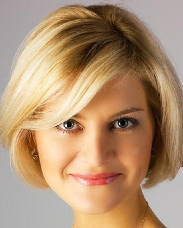 Photo Gallery Of Short Haircuts For Big Round Face Viewing 5 Of 20