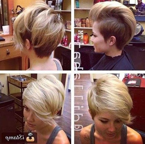 50 Short Haircuts For 2014 – 2015 | Short Hairstyles & Haircuts 2017 Regarding Part Shaved Short Hairstyles (View 11 of 20)