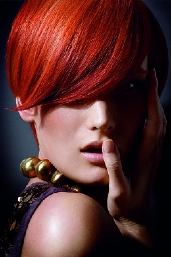 52 Best Curly Hair Styles And Color Ideas Images On Pinterest In Fire Red Short Hairstyles (View 6 of 20)