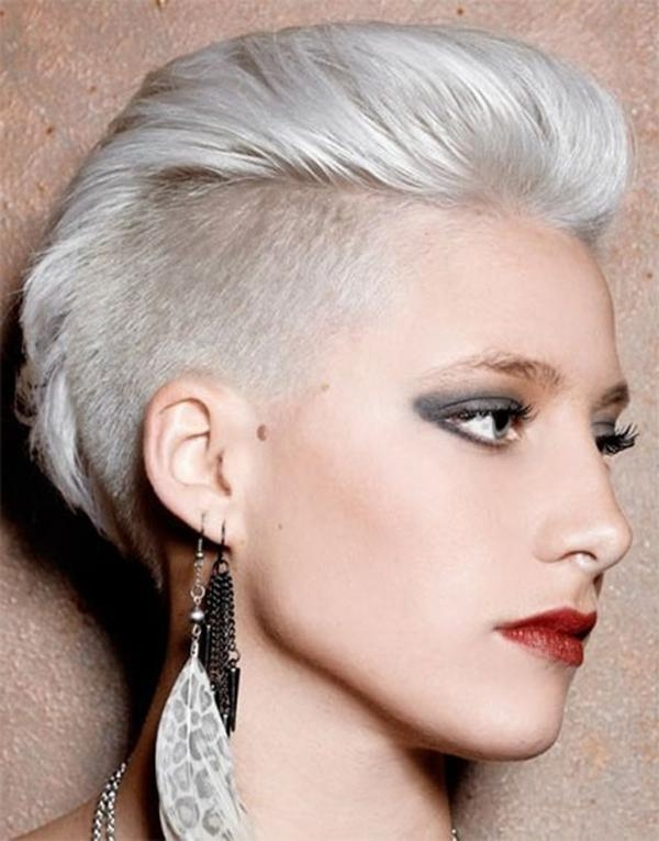 52 Of The Best Shaved Side Hairstyles Within Short Hairstyles With Both Sides Shaved (View 16 of 20)