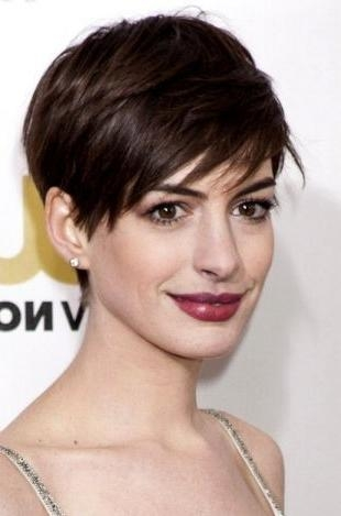 540 Best Anne Hathaway Images On Pinterest | Artists, Beautiful With Anne Hathaway Short Haircuts (View 14 of 20)