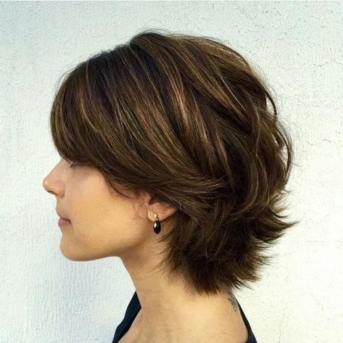 60 Classy Short Haircuts And Hairstyles For Thick Hair Throughout Short Haircuts For Thick Wavy Hair (View 12 of 20)