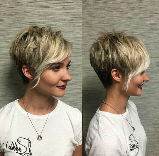 60 Cool Short Hairstyles & New Short Hair Trends! Women Haircuts 2017 Throughout Asymmetrical Short Hairstyles (View 4 of 20)