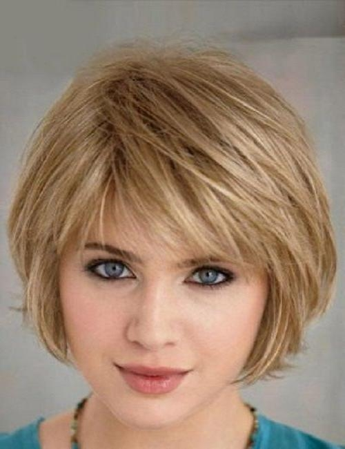 74 Best Bob Haircuts Images On Pinterest | Hair, Bobs And Dark Hair Inside Short Haircuts With Bangs For Fine Hair (View 3 of 20)