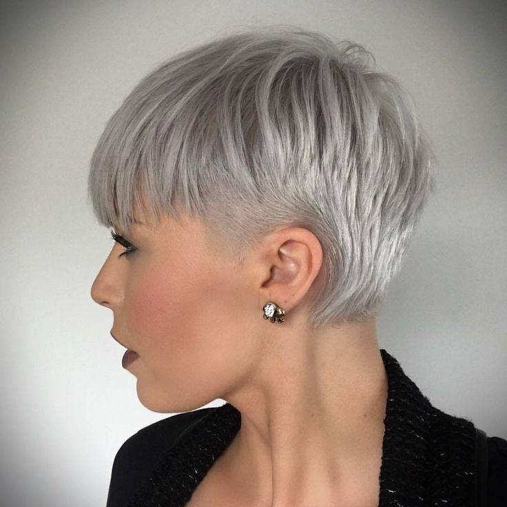 783 Best Short Images On Pinterest | Bobs, Hair And Brown Throughout Short Haircuts With Gray Hair (View 12 of 20)