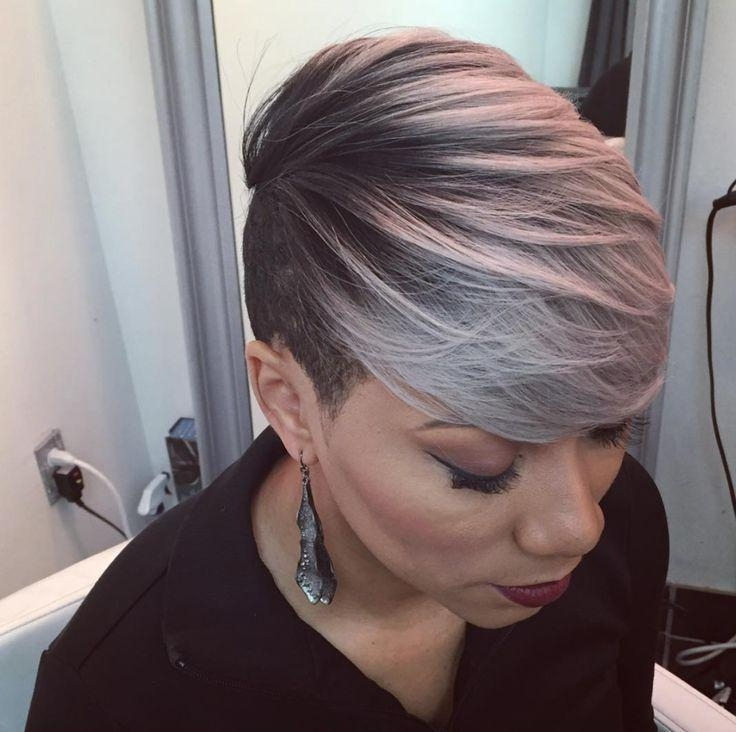 789 Best Black & Gray Images On Pinterest | Braids, Hairstyles And In Short Hairstyles For Black Women With Gray Hair (View 14 of 20)