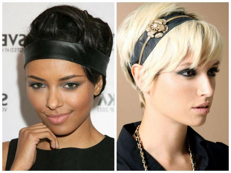 79 Best Head Bands And Short Hair Images On Pinterest | Plaits With Regard To Short Hairstyles With Headbands (View 4 of 20)