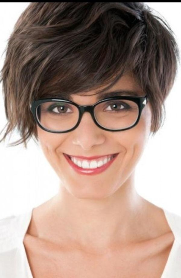 93 Best Hair Images On Pinterest | Portraits, Black And Clothes With Regard To Short Haircuts For Girls With Glasses (Gallery 3 of 20)