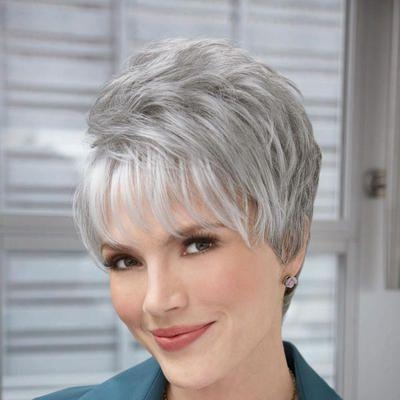 95 Best Short Hair Cuts For Gray Hair !!!! Images On Pinterest Regarding Short Haircuts With Gray Hair (Gallery 8 of 20)