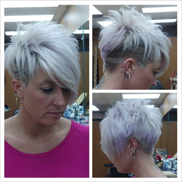 Photo Gallery of Short Haircuts For Women With Grey Hair (Viewing 15 ...