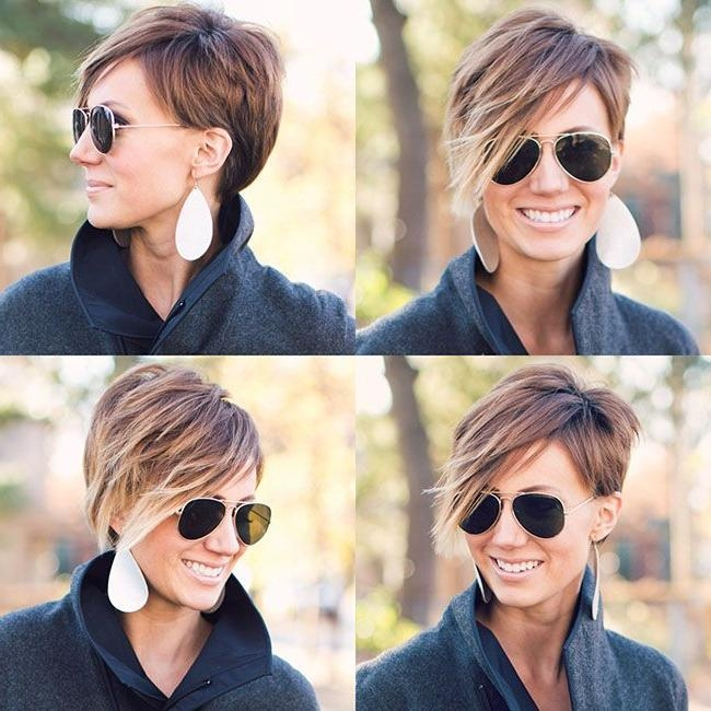98 Best Projet Coiffure Images On Pinterest | Hairstyles In Short Haircuts With One Side Longer Than The Other (View 5 of 20)