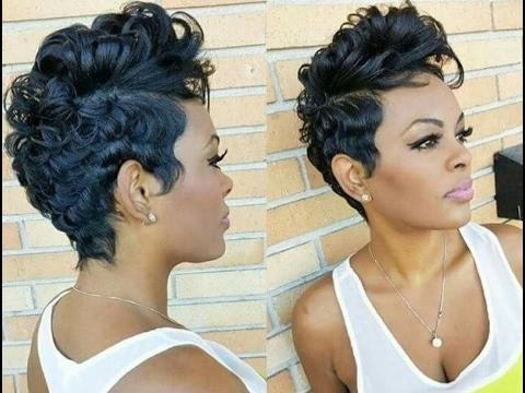African American Women Short Hairstyles And Haircuts 2017 2018 Pertaining To Black Short Hairstyles (View 8 of 20)