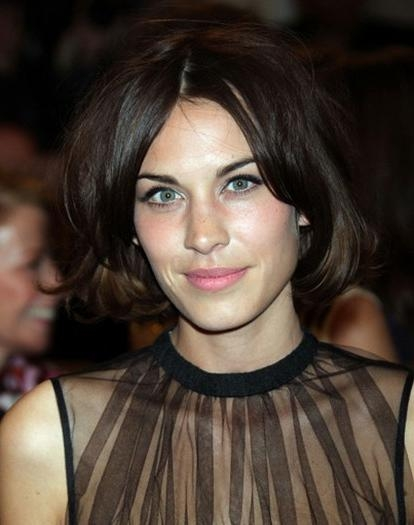 Alexa Chung Short Hairstyles – Popular Haircuts With Regard To Center Part Short Hairstyles (View 6 of 20)