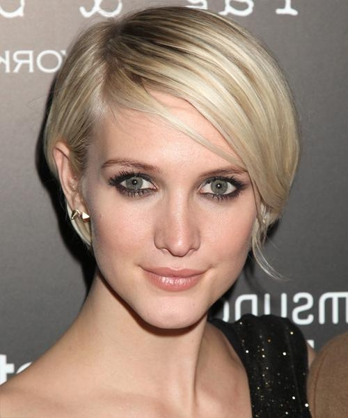 Ashlee Simpson Short Straight Casual Bob Hairstyle – Light Blonde Within Ashlee Simpson Short Hairstyles (View 10 of 20)