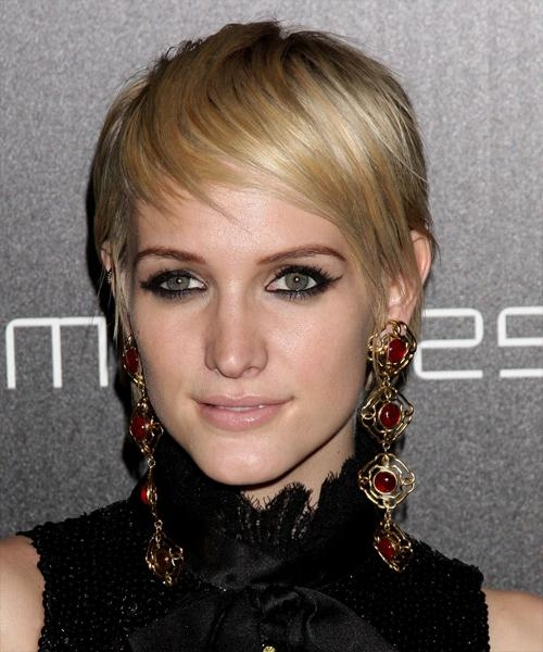 Ashlee Simpson Short Straight Casual Pixie Hairstyle With Ashlee Simpson Short Haircuts (View 13 of 20)