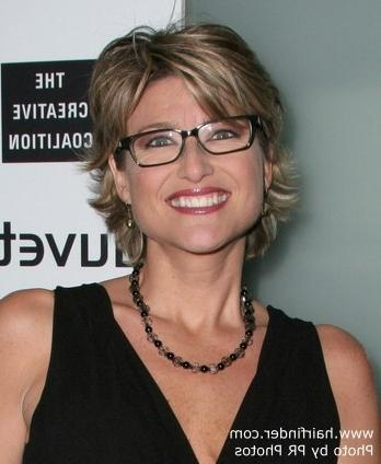 Ashleigh Banfield's Short Haircut That Looks Great For Women Pertaining To Short Hairstyles For Women Who Wear Glasses (View 1 of 20)