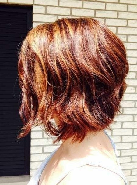 Auburn Wavy Bob: Not Too Long, Not Too Short! – Hairstyles Weekly With Auburn Short Haircuts (View 8 of 20)