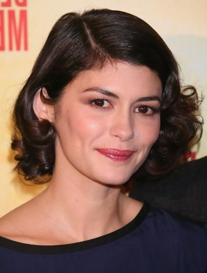 Audrey Tautou Elegant Short Haircuts For Loose Curly Hair For Audrey Tautou Short Haircuts (View 10 of 20)