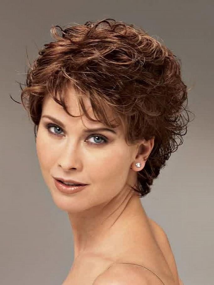 Photo Gallery Of Short Haircuts Curly Hair Round Face Viewing 8 Of