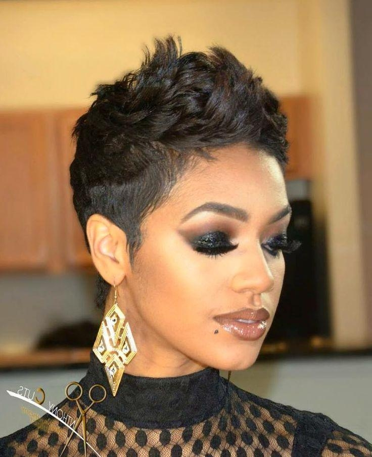 Best 25+ African American Short Hairstyles Ideas On Pinterest Within African American Short Haircuts For Round Faces (View 9 of 20)