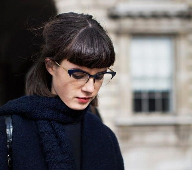 Best 25+ Bangs And Glasses Ideas On Pinterest | Blunt Fringe With Regard To Short Haircuts With Bangs And Glasses (View 9 of 20)