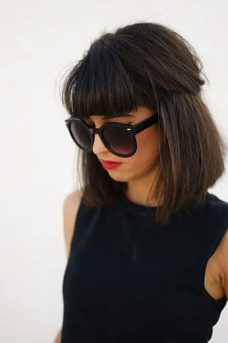 Best 25+ Bangs And Glasses Ideas On Pinterest   Blunt Fringe With Short Haircuts With Bangs And Glasses (View 9 of 20)