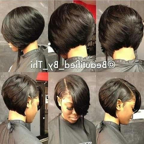 Best 25+ Black Bob Hairstyles Ideas On Pinterest | Graduated Bob Intended For Black Bob Short Hairstyles (View 10 of 20)