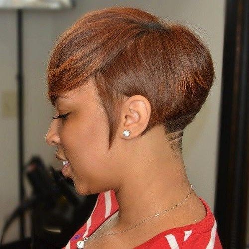 Best 25+ Black Women Short Hairstyles Ideas On Pinterest | Short Pertaining To Short Hairstyles With Color For Black Women (View 8 of 20)