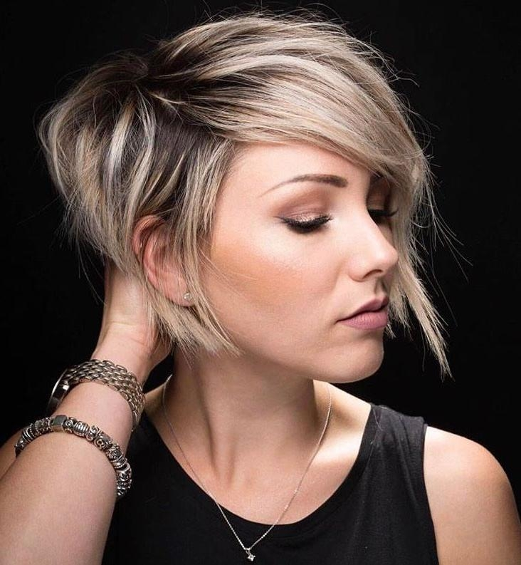 Best 25+ Blonde Pixie Ideas On Pinterest | Pixie Haircut, Pixie With Regard To Short Haircuts With Long Side Bangs (View 6 of 20)