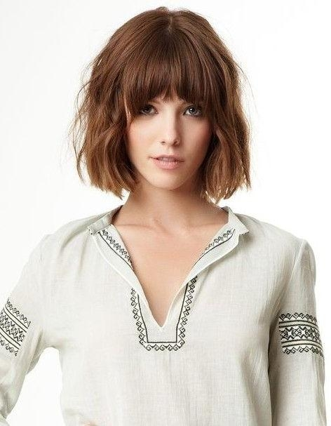 Best 25+ Blunt Bangs Ideas On Pinterest | Medium Bob With Bangs Inside Short Hairstyles With Blunt Bangs (View 6 of 20)