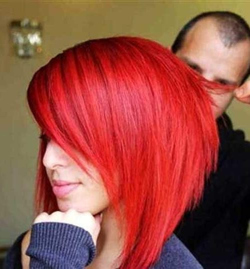 Best 25+ Bright Red Hairstyles Ideas On Pinterest | Will Red Hair Throughout Bright Red Short Hairstyles (View 6 of 20)