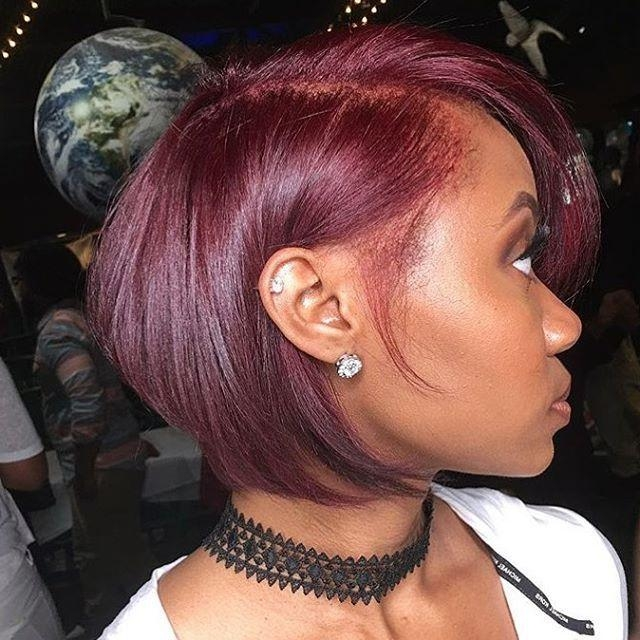Photo Gallery Of Short Hairstyles With Color For Black Women