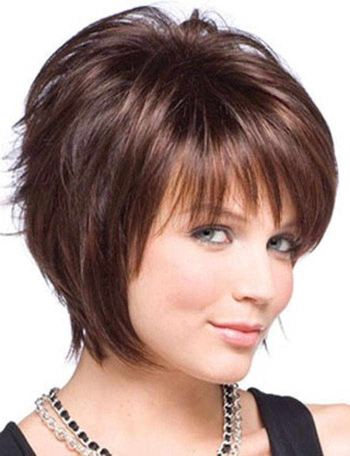 Best 25+ Fat Face Short Hair Ideas On Pinterest | Short Hairstyles Pertaining To Short Haircuts For Full Figured Women (View 18 of 20)