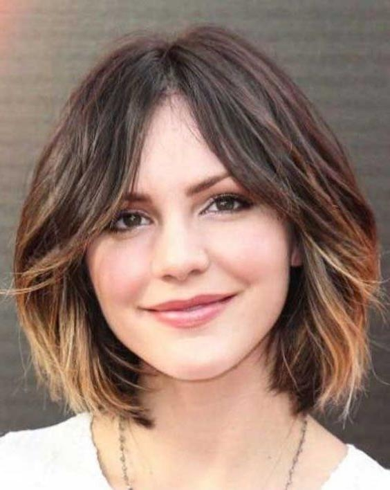 Best 25+ Haircuts For Round Faces Ideas On Pinterest | Short Hair With Regard To Short Hairstyles With Bangs And Layers For Round Faces (View 13 of 20)