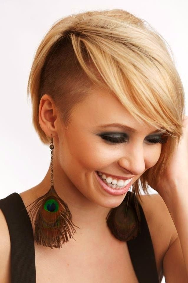 Best 25+ Half Shaved Hairstyles Ideas On Pinterest | Half Shaved With Regard To Half Long Half Short Hairstyles (View 7 of 20)