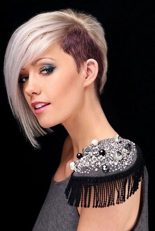 Best 25+ Half Shaved Hairstyles Ideas On Pinterest | Half Shaved With Regard To Half Long Half Short Hairstyles (View 6 of 20)