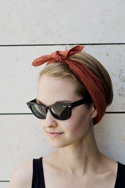 Best 25+ Headbands For Short Hair Ideas On Pinterest | Headband Regarding Short Hairstyles With Headband (View 11 of 20)