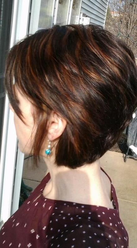 Best 25+ Highlights Short Hair Ideas On Pinterest | Bayalage Bob Within Short Hairstyles And Highlights (View 14 of 20)