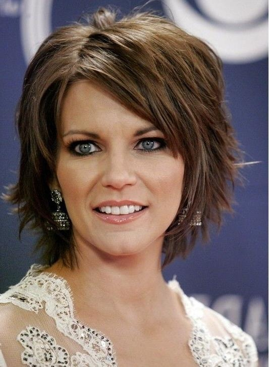 Best 25+ Layered Hairstyles With Bangs Ideas On Pinterest | Mid Regarding Short Haircuts For Thick Fine Hair (View 12 of 20)